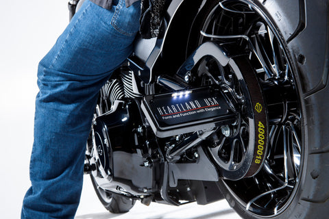 M-8 Softail Axle Mount License Plate Holder