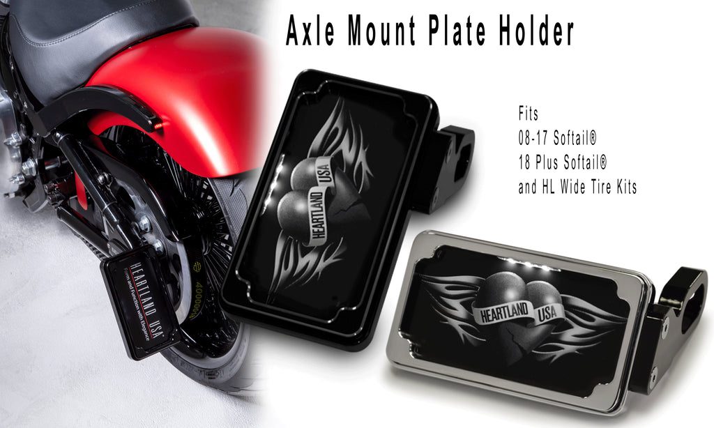 Heartland USA Axle Mount Plate Holders 2008 to Present Softail