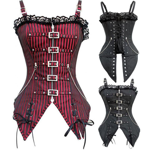 Striped Overbust Corset