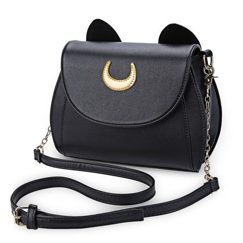 Black Cat Shape Shoulder Bag