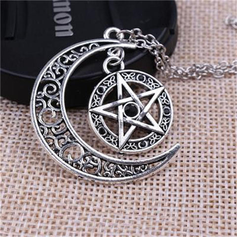 Witch Moon Pentagram Necklace