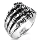 Men's Stainless Steel Skeleton Hand Ring