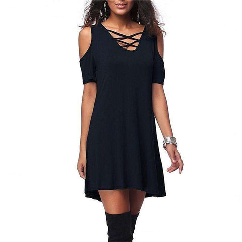 Cross Hollow Dress