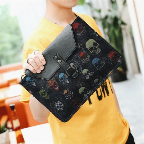 Skull Envelope Clutch Handbag