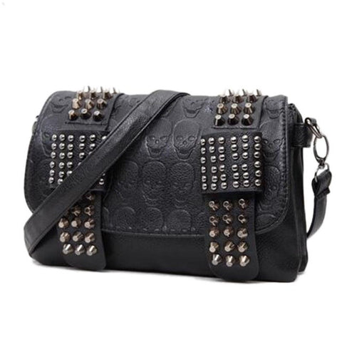 *Skull Rivet Shoulder Bag