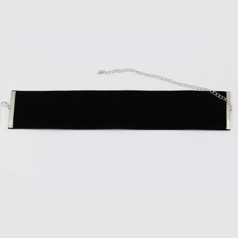 Wide Velvet Choker Necklace