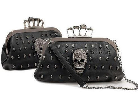 Knuckle Rings Skulls Clutch