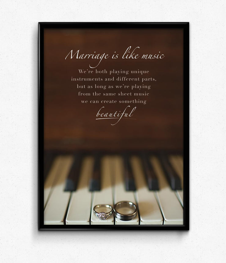 """Marriage & Music"" Poster"