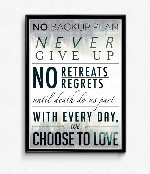"""No Backup Plan"" Poster"