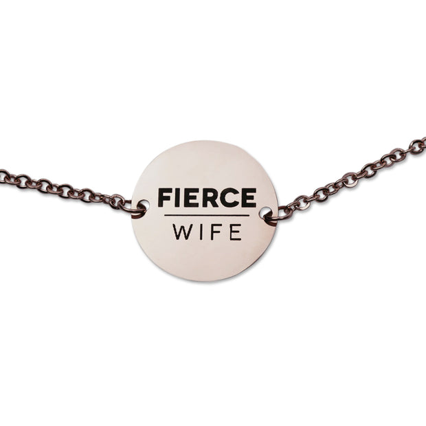 "NEW ""Let Man Not Separate"" Coin Pendant Necklace, Rose Gold"