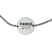 """Let Man Not Separate"" Coin Pendant Necklace, Silver"