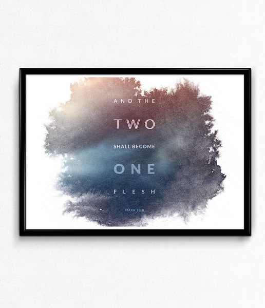 """Two Become One"" Poster"