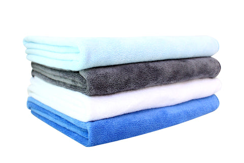 Multi-Purpose Microfibre Gym / Sports Towels - Pack of 4 - 45x90cm - 350GSM
