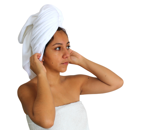 Premium XL Microfibre Hair Towel - 130x65cm - 400GSM : Super Soft, Quick Drying & Highly Absorbent