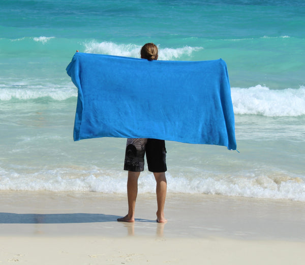 XL Premium Microfibre Beach / Travel Towel - 2x1m - 400GSM