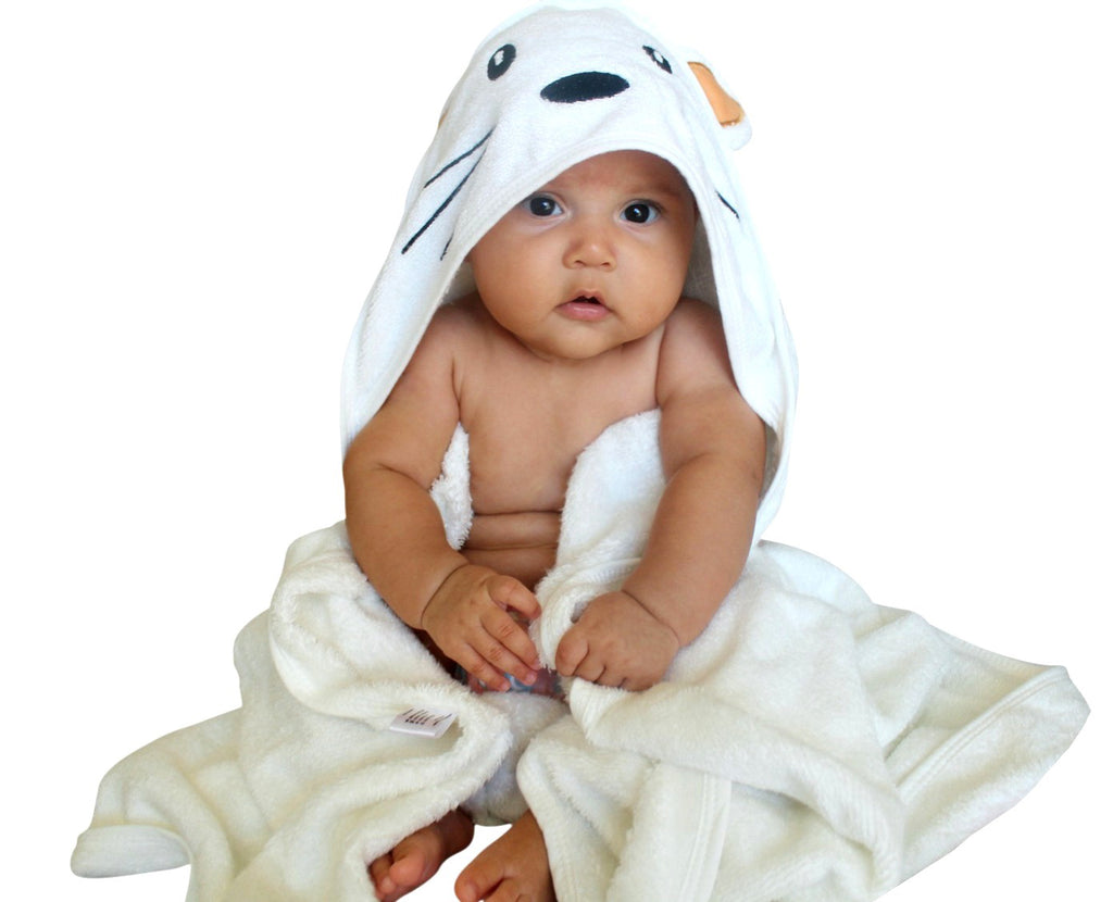 Premium Bamboo Hooded Baby Bath Towel Set - 90x90cm - 500GSM