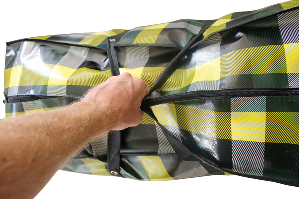 Extra Large Multi-Purpose Jumbo Storage Bag with Zips - 60x90x35cm - 170GSM - 189L