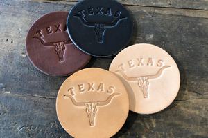 Coaster 4 Pack Texas Longhorn | Brown | Manready Mercantile - Case of 5 Packs