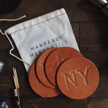 Load image into Gallery viewer, Coaster 4 Pack NY | Russet | Manready Mercantile - Case of 5 Packs
