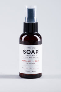 Travel Size | Natural Hand Soap | BERGAMOT + TEAK | Manready Mercantile - Case of 6