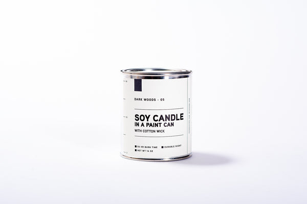 Paint Can Soy Candle | Dark Woods | Manready Mercantile