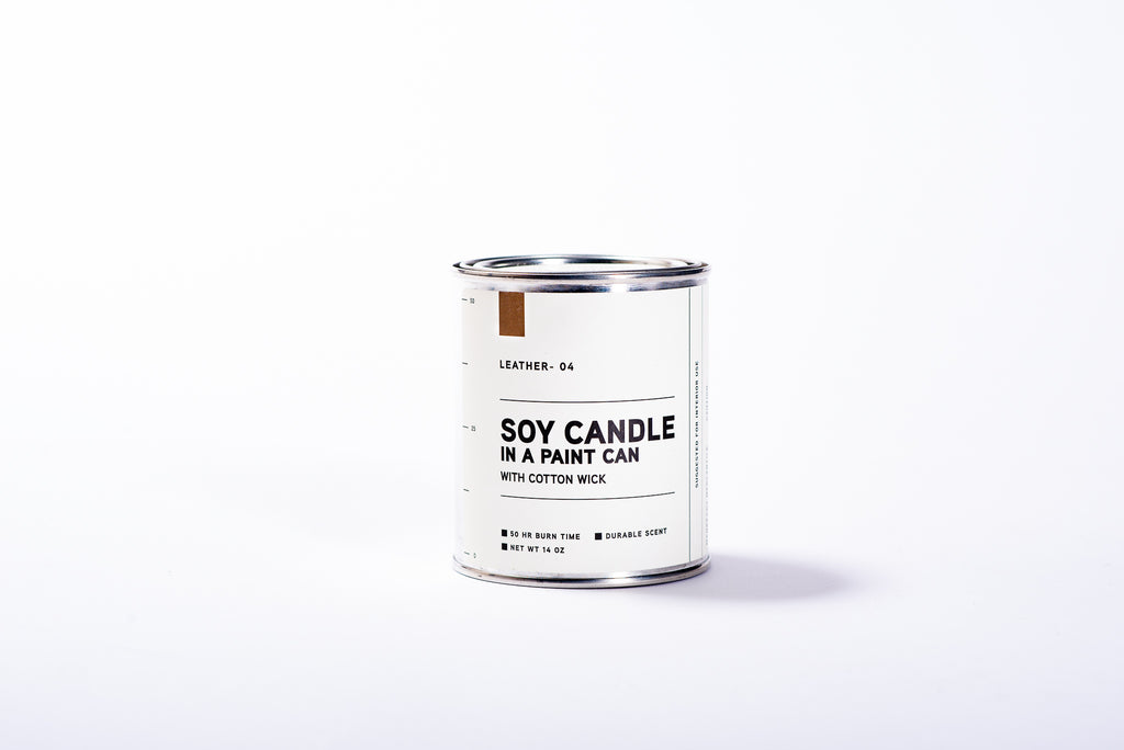 Paint Can Soy Candle | Leather | Manready Mercantile