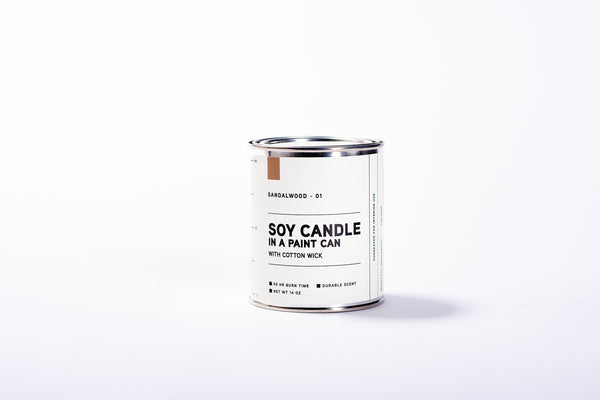 Paint Can Soy Candle | Sandalwood | Manready Mercantile