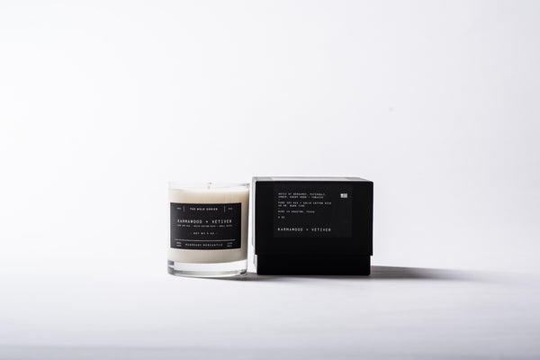 The Bold Series Soy Candle - Karmawood + Vetiver