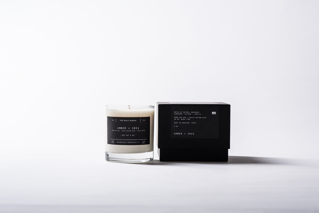 The Bold Series Soy Candle - Amber + Iris