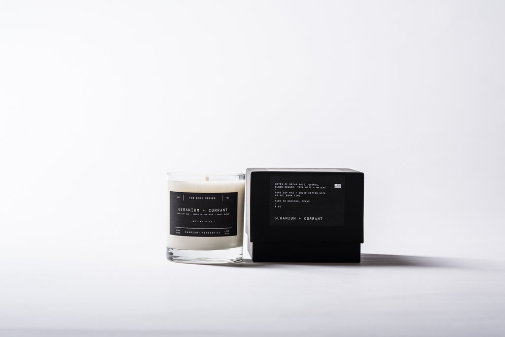 The Bold Series Soy Candle - Geranium + Currant