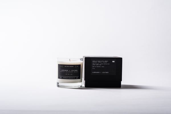 The Bold Series Soy Candle - Labdanum + Leather