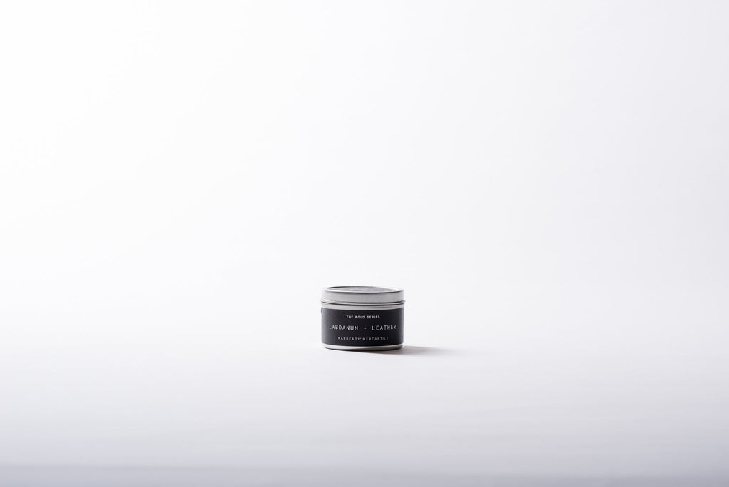 The Bold Series | Travel Size | Labdanum + Leather Soy Candle | Manready Mercantile