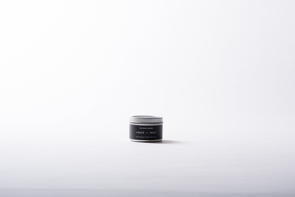 The Bold Series | Travel Size | Amber + Iris Soy Candle | Manready Mercantile