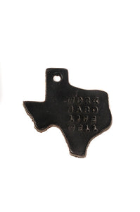 Texas Leather Key Tag | WHLW Black | Manready Mercantile - Case of 12