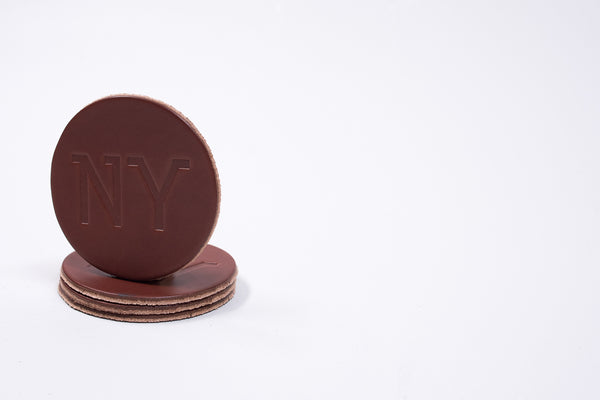 Coaster 4 Pack NY | Brown | Manready Mercantile