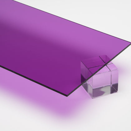 Purple Transparent Acrylic Plexiglass Sheet, color 1020