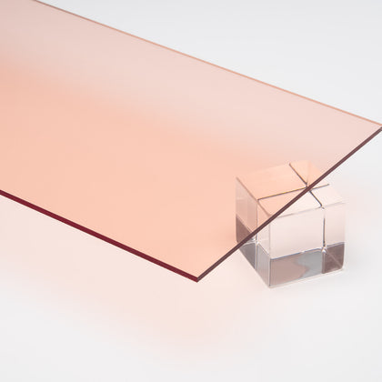 Rose Gold Transparent Acrylic Plexiglass Sheet, color 1350