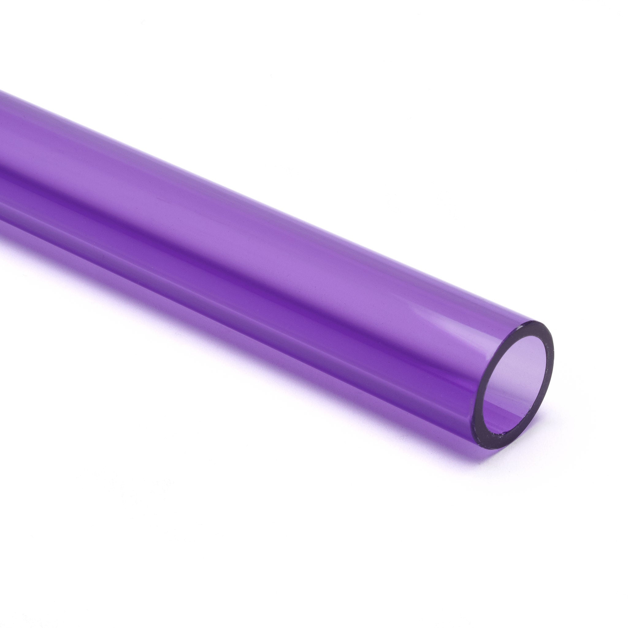 Purple Transparent Acrylic Round Tube