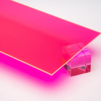 Pink Fluorescent Acrylic Plexiglass Sheet, color 2085