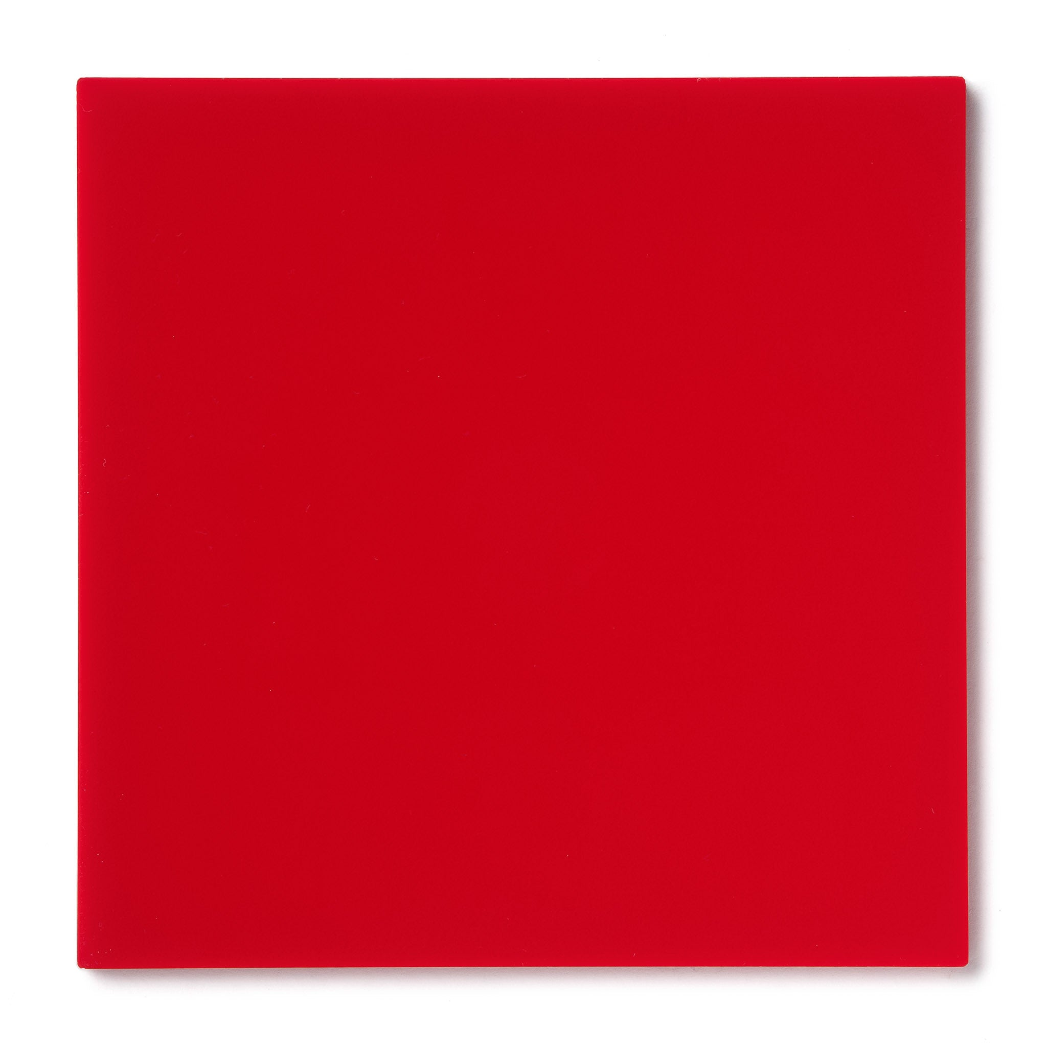 Red Opaque Acrylic Plexiglass Sheet, color 2157