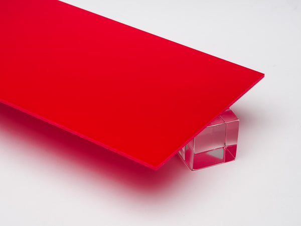 Red Opaque Acrylic Sheet Canal Plastics Center