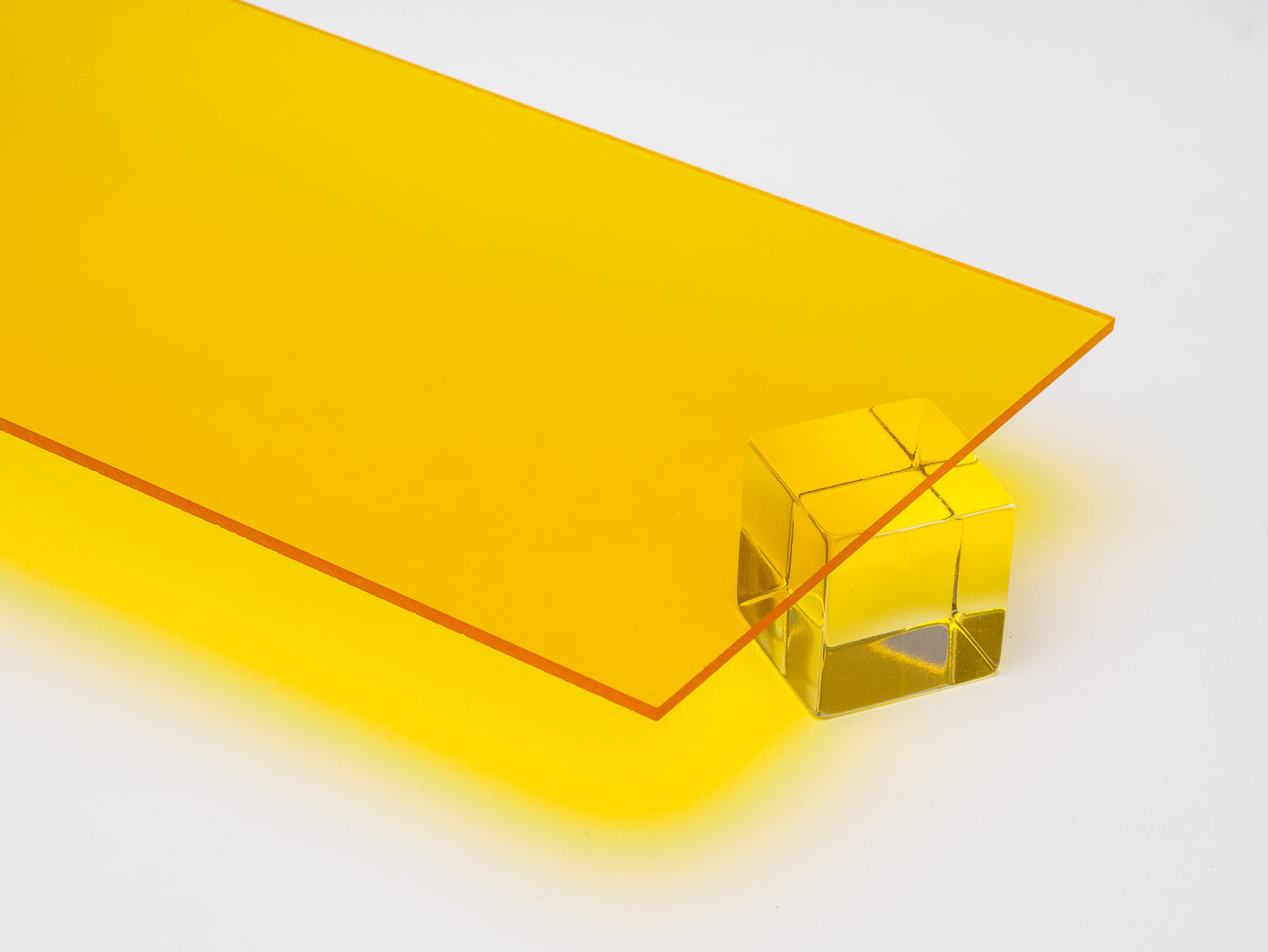 Yellow Transparent Acrylic Sheet Canal Plastics Center