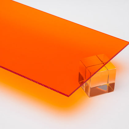 Amber Transparent Acrylic Plexiglass Sheet, color 2422