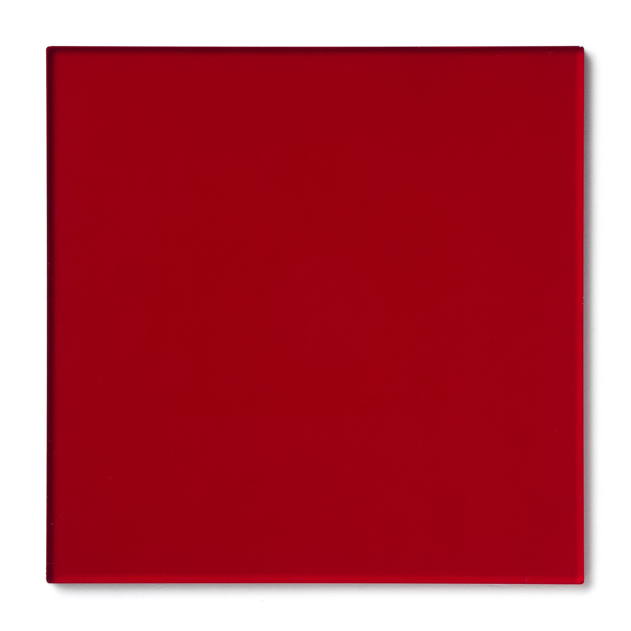 Red Transparent Acrylic Plexiglass Sheet, color 2423