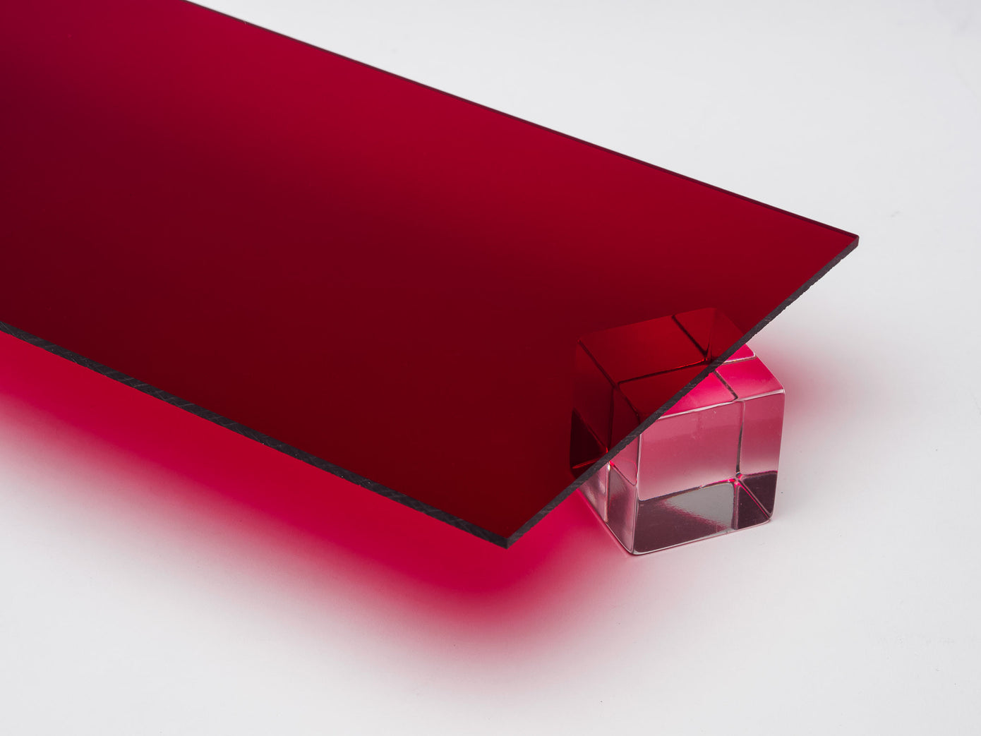 Red Transparent Acrylic Sheet – Canal Plastics Center