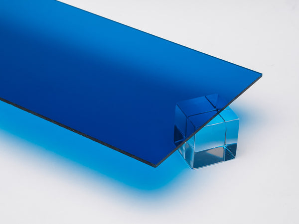 Dark Blue Transparent Acrylic Sheet Canal Plastics Center