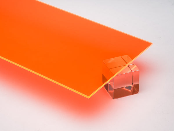 Orange Fluorescent Acrylic Sheet Canal Plastics Center