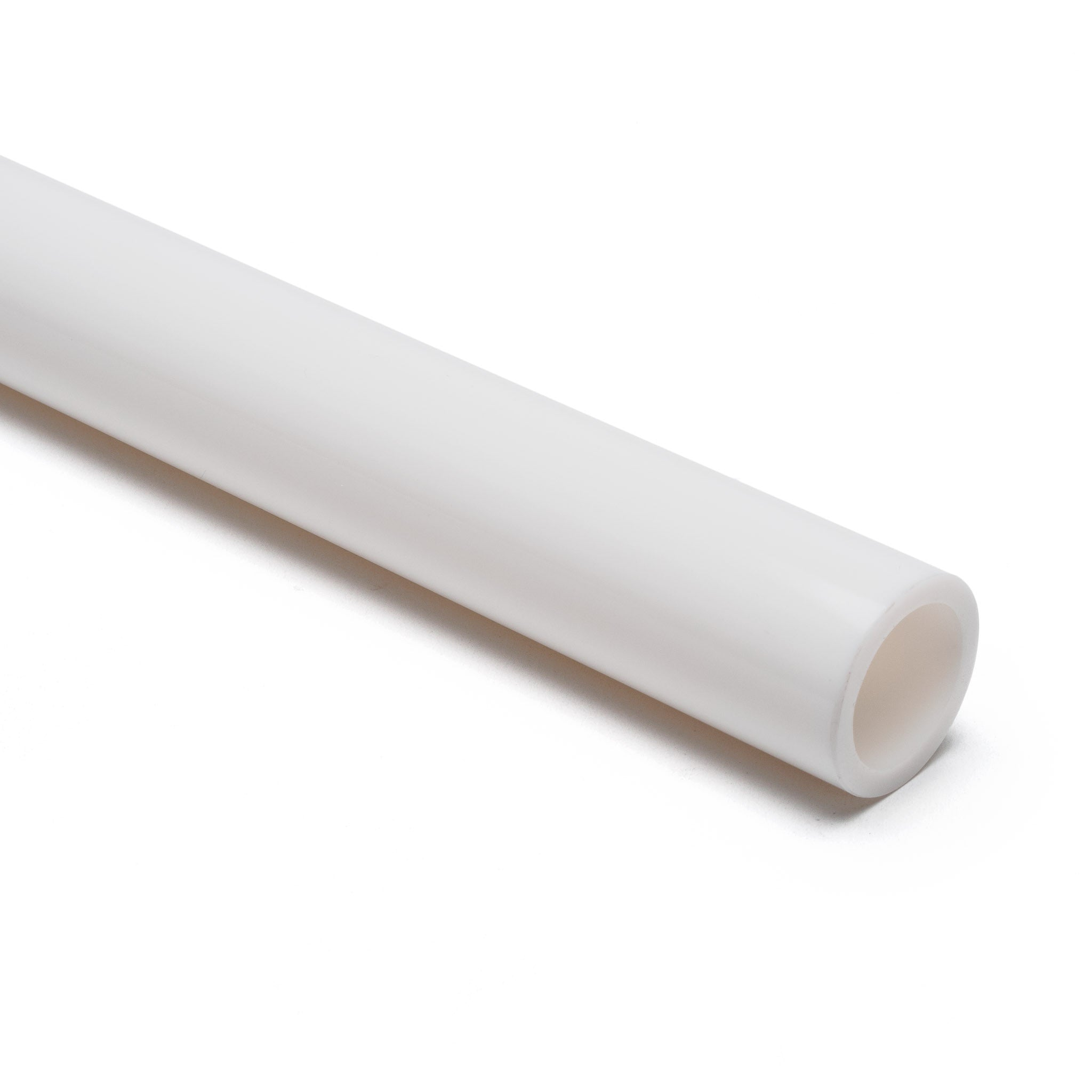 White Opaque Acrylic Round Tube