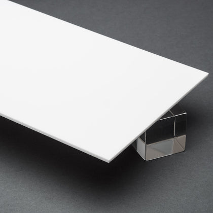 White Opaque P95 Matte Acrylic Plexiglass Sheet, color 7508
