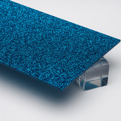 Blue Glitter Acrylic Plexiglass Sheet, color 9721